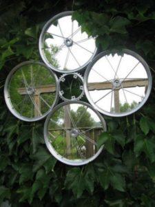 Bicycle Wheels Mirror