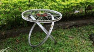 Bicycle Wheels Upcycling Ideas