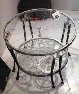 Bicycle Wheels Table Idea
