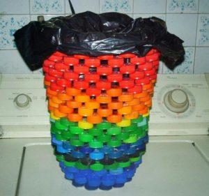Bottle Caps Waste Bin