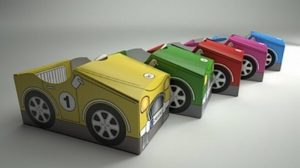 Cardboard Recycled Car for Kids