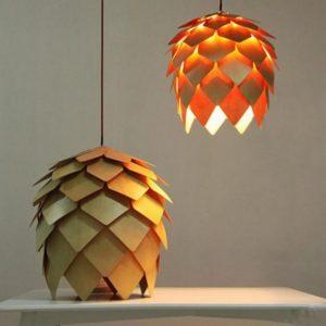 Modern Art Wooden Pendant Lamp