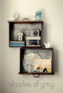 Old Drawers Recycled Wall Decor