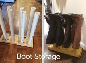 PVC Pipes Boot Storage