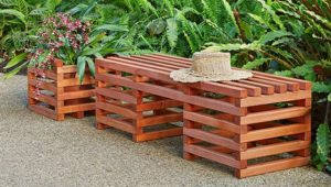 Pallet Bench and Planter Box