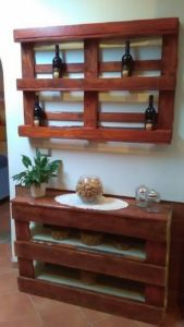 Pallet Wine Rack and Entryway Table