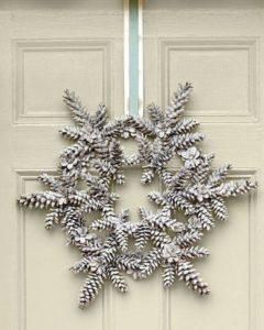 Pine Cone Door Decor