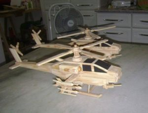 Popsicle Sticks Helicopters