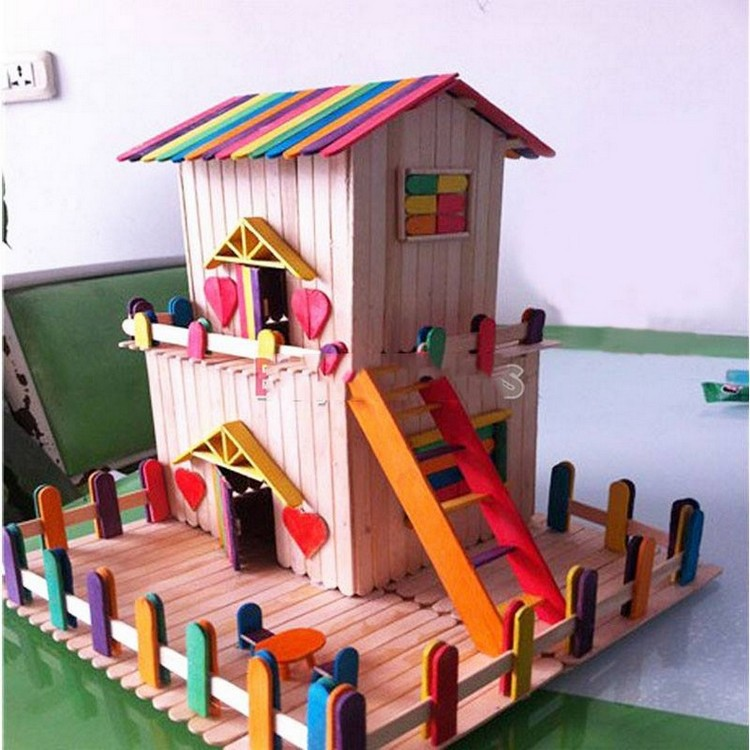 Popsicle Sticks House for Kids