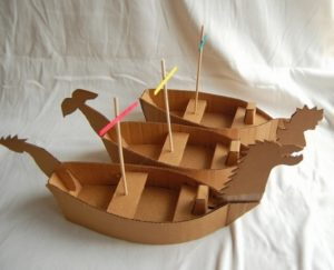 Recycled Cardboard Boats
