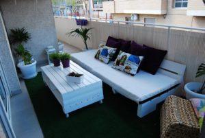 Beautiful Pallet Balcony Furniture