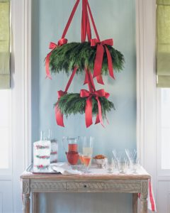 Christmas Chandelier Decor Idea