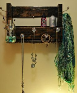 Recycled Pallet Jewelry Holder