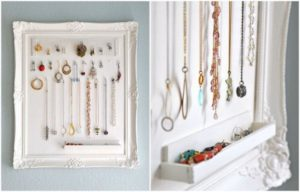 Repurpose Picture Frame into Jewelry Holder