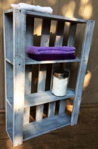 Shabby Chic Pallet Shelf