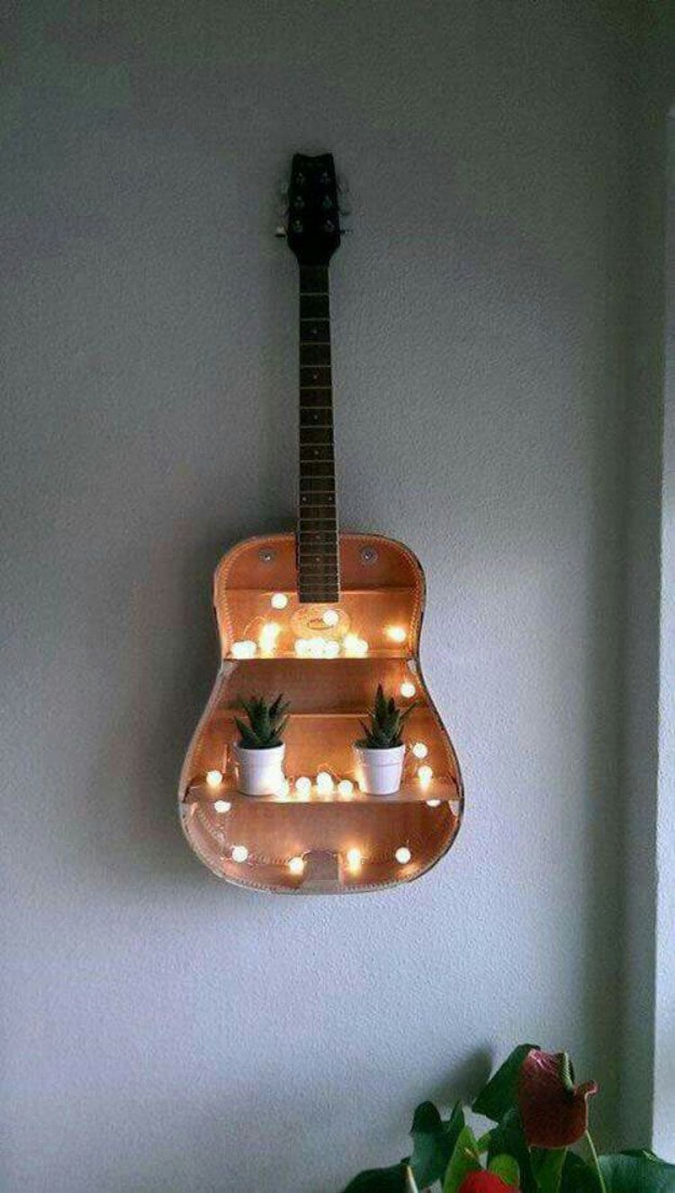 Wall Decor with Guitar