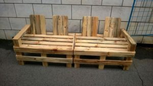 Wooden Pallet 4 Seater Bench