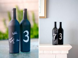 Chalkboard Wine Bottle Table Numbers