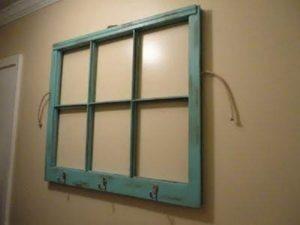 Entryway Window Pane Coat Rack