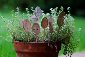 Hand-Stamped Plant Markers