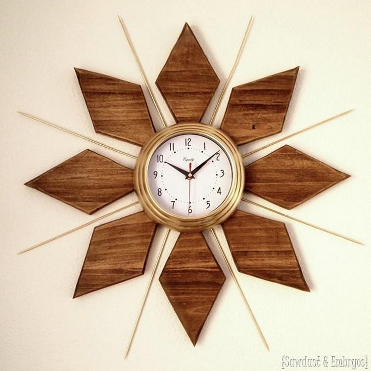 Modern Esque Starburst Clock