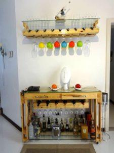 Pallet Beverage Bottle Rack + Pallet Bar – Pallet Indoor Bar