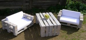 Pallet Sofa Seats and Table
