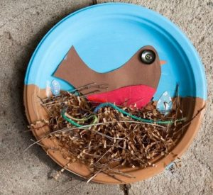 Paper Plate Bird and Nest