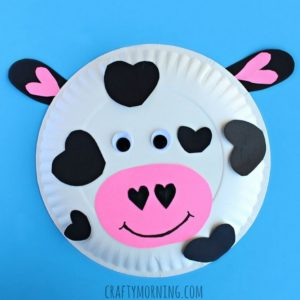 Paper Plate Heart Cow
