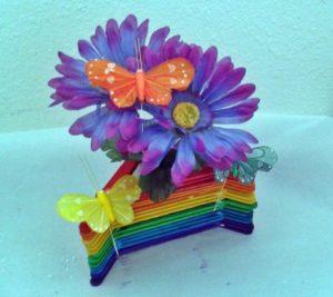 Rainbow Flower Vase