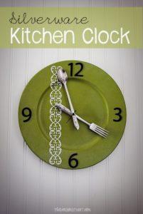 Silverware Kitchen Clock