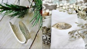 Stamped Spoon Napkin Rings