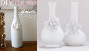 Upcycled Glass Flower Vases