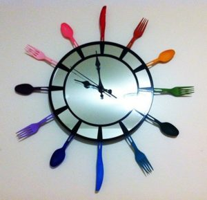 Utensil Clock