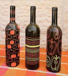 Wine Bottle Vases Simplified For Your Fall Table