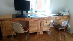 Wood Pallet Office Desk