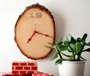 Wood Slice Clock