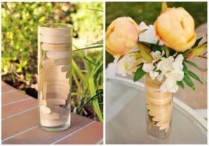 Wooden Helix Vase