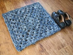 Crochet Denim Rug
