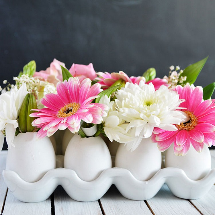 Eggshell Flower Centerpiece