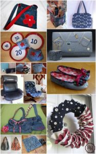 Genius DIY Projects Made from Denim Jeans