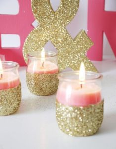 Glitter Candle Holders