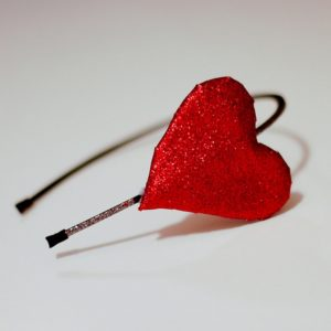 Glitter Heart Headband