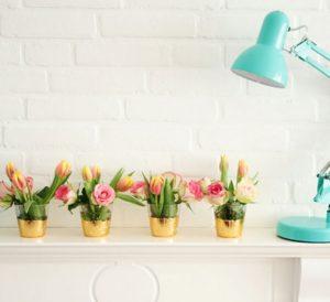Gold Leaf Vases