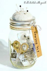 Mason Jar Sewing Kit