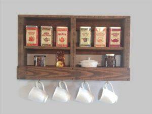 Pallet Kitchen Coffee and Tea Rack