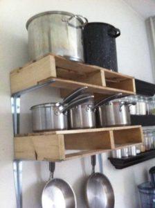 Pallet Kitchen Pot Rack