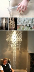 Plastic Bottle Chandelier