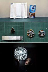 Recycled TetraBox Lamp