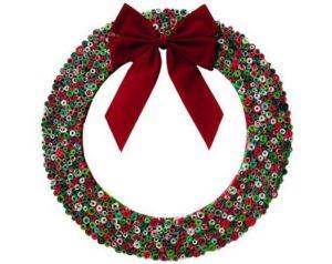 Repurpose Magazine Christmas Wreath